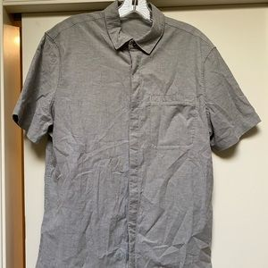 Gray Short Sleeve Button Down